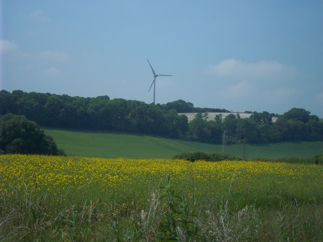 distant wind turbine