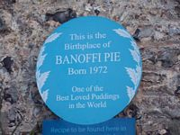 Plaque to banoffi pie