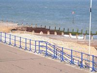 Groynes on Eastbourne beach